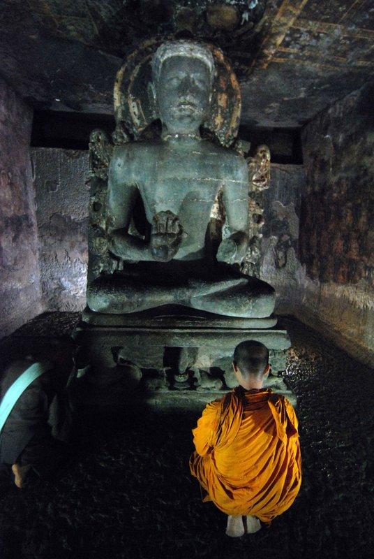 Monk praying