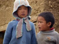 Kids in Komic village