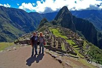 Us in front of Machu Picchu view