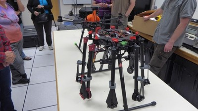 Octocopter drone