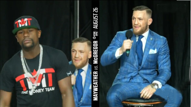 Mayweather vs McGregor NY press Conference - war of words