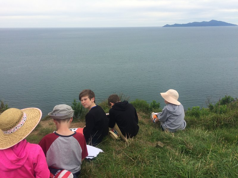 Enjoying the view with Wairaka