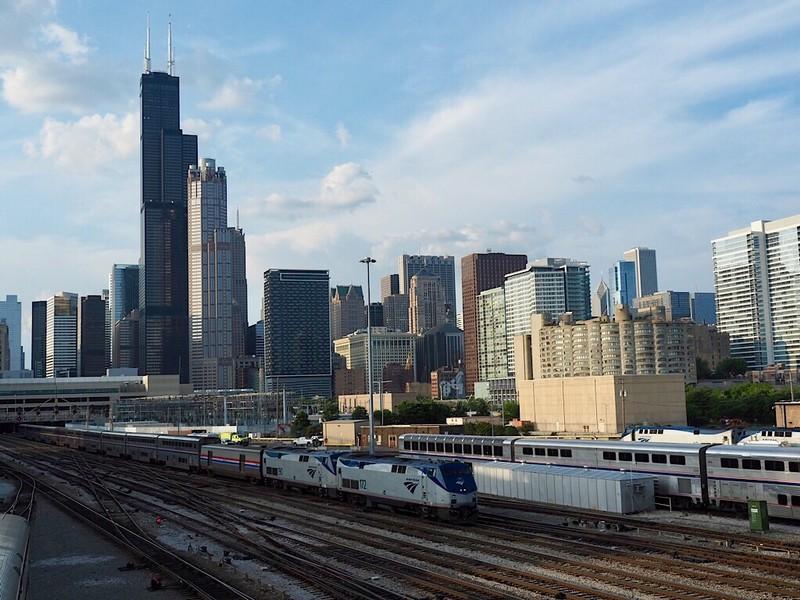 Amtrak Capitol Limited to Washington leaves Chicago Union Station
