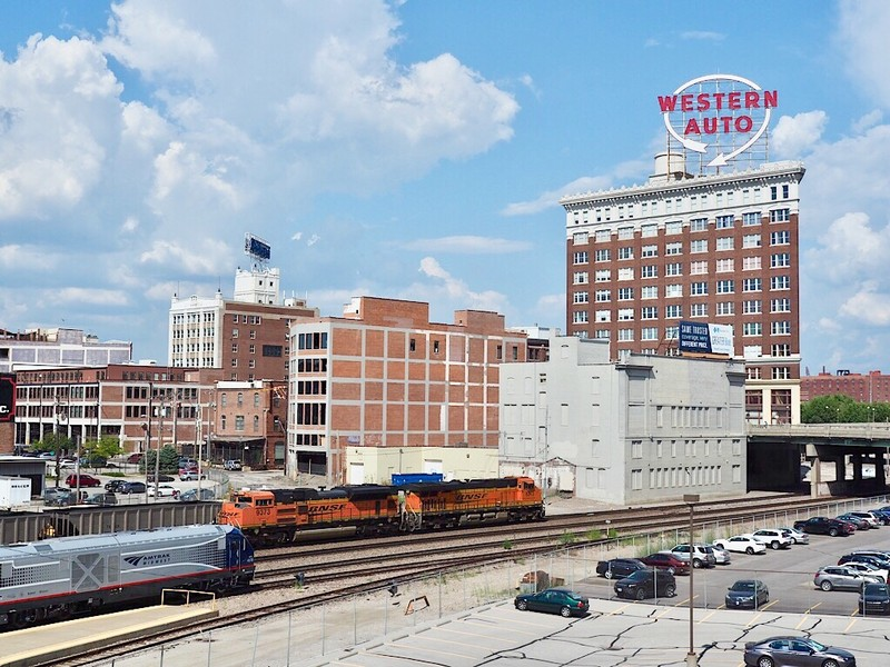 Amtrak's Missouri River Runner leaves Kansas City Union Station to head to St. Louis, MO