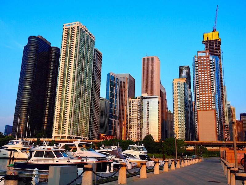 Chicago's Skyline at sunrise