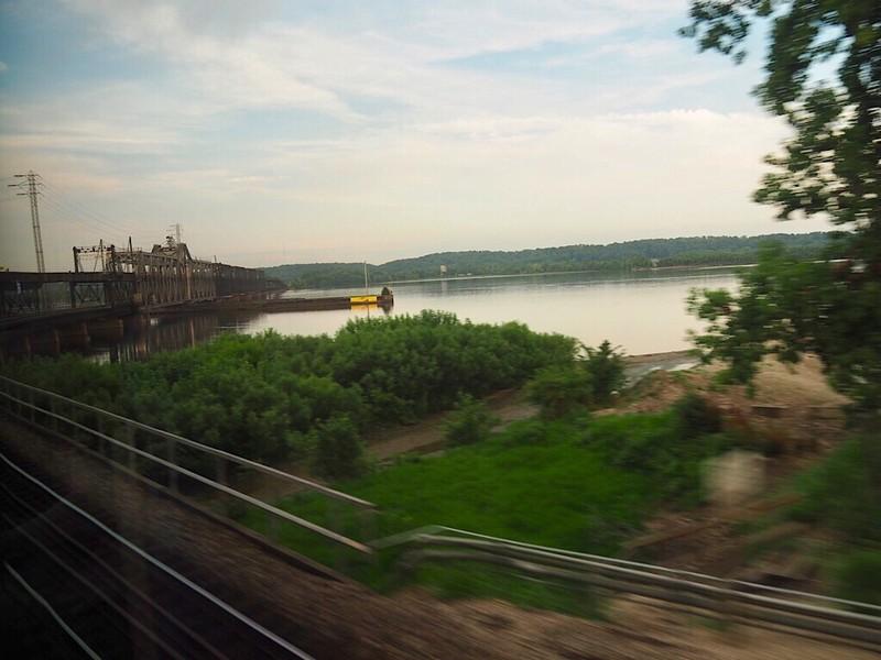 Train bridge over the Mississippi