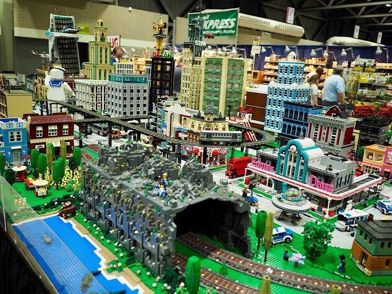 Lego Models at the National Train Show in Kansas City, MO