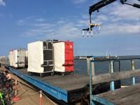 Wangerooge Hafen Gepäckumschlag