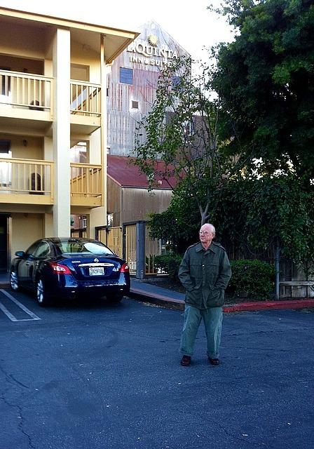 Jim outside motel