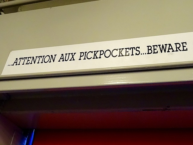 Sign above the elevator