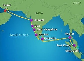 14 Nts. Asia & India Cruise