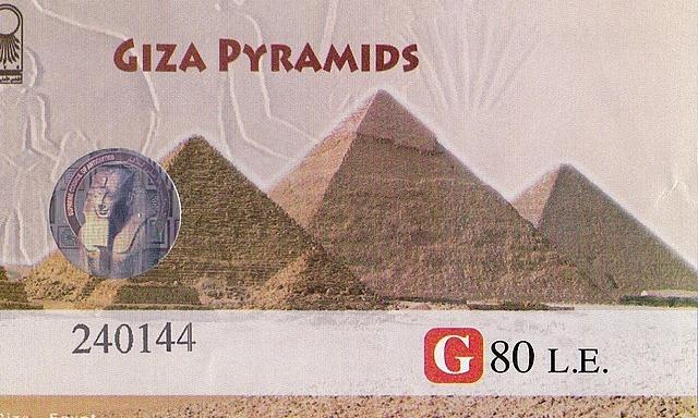 Ticket for Giza Pyramids x 2