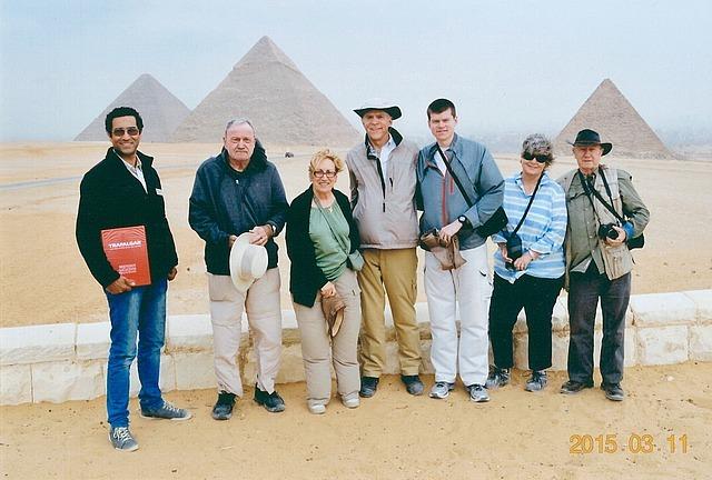 Trafalgar Group Picture at Giza Pyramids