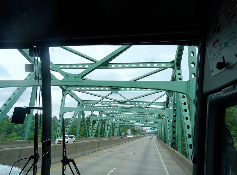 Chuck Yeger Bridge crossing the Kanawha River