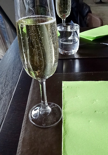 Champagne with lunch