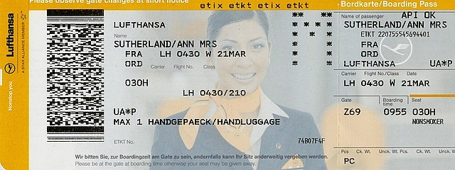 Ticket from Frankfurt to Chicago