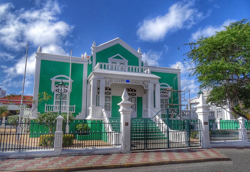 Aruba's beautiful Town Hall Building