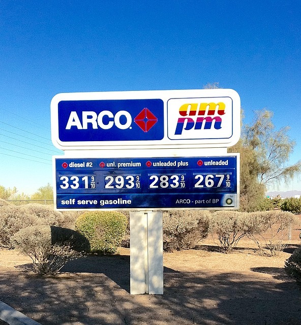 Gas price in Arizona