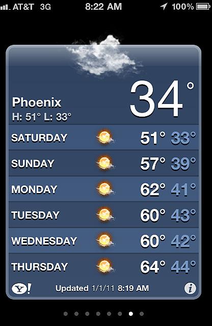 Leaving Phoenix Motel 8:19am
