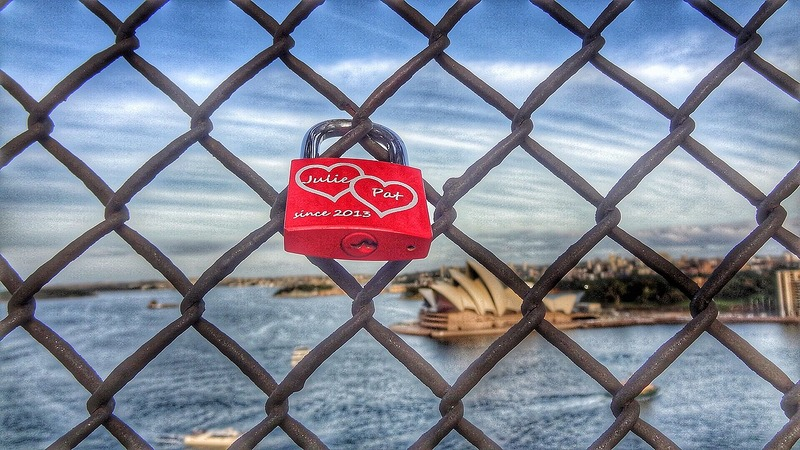 Love Lock on Harbor Bridge
