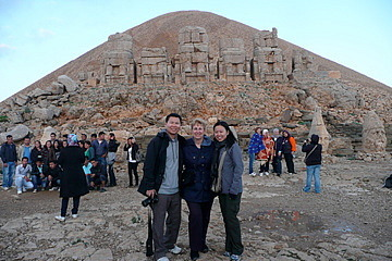 the three of us at Nemrut