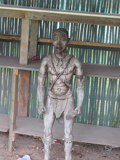 Freaky Statue at Knysna's Crafts Market