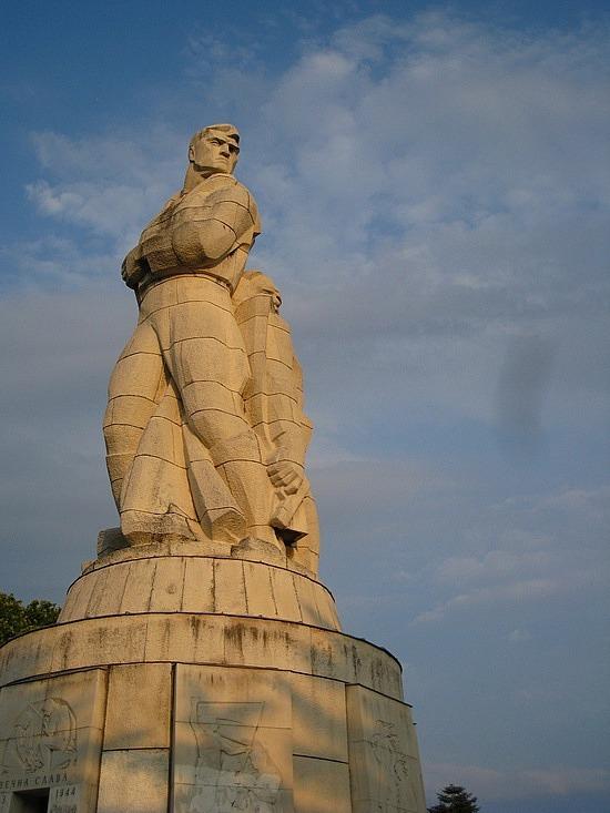 Soviet-Style Statue in Varna's Primorski Park