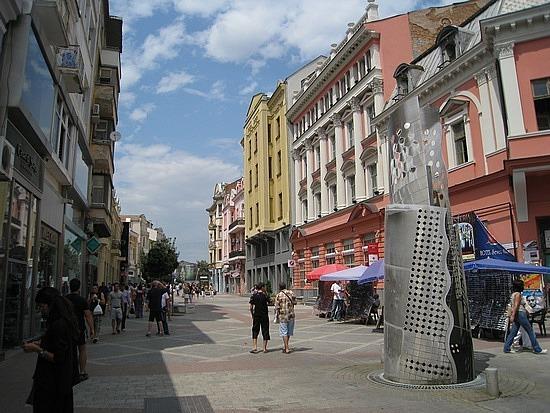 Plovdiv's Main Pedestrian Street ...
