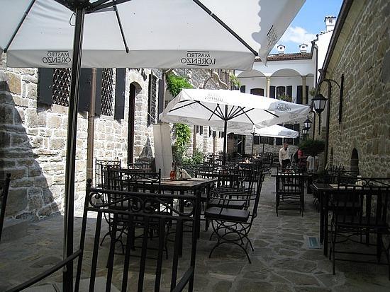 Courtyard of the Hadji Nikoli Inn For a Break
