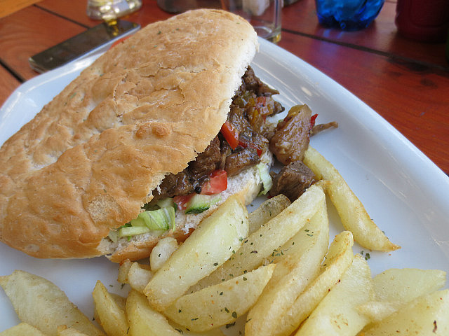 Ostrich Kebab ...