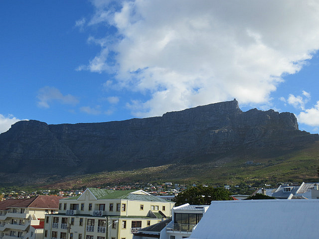 View of Table Mountain From Our Guesthouse