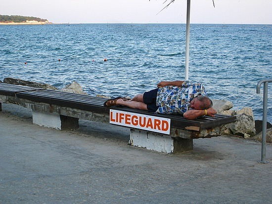 Somehow, I Don't Think He's the Lifeguard