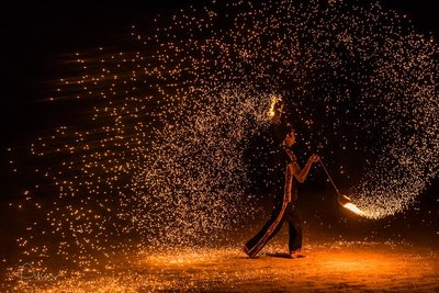 Fire performer, Gili air