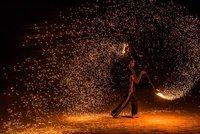 Fire performer, Gili air