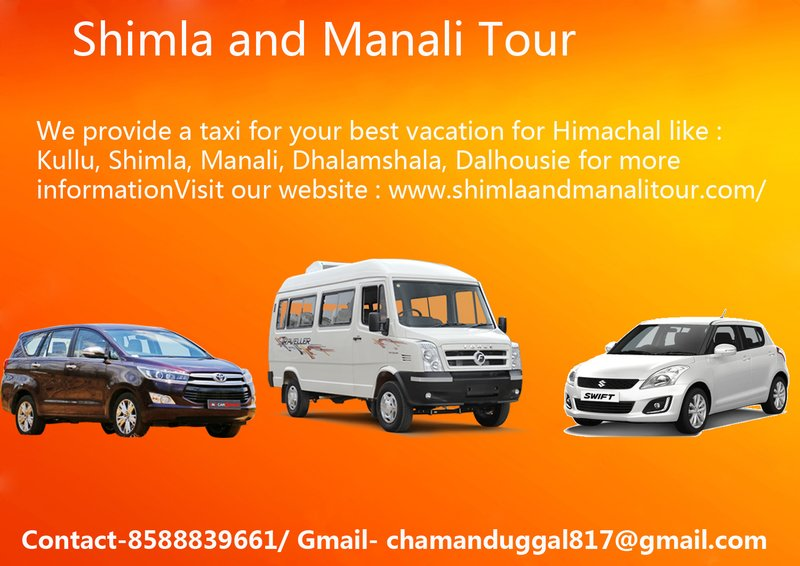 Shimla Manali Tour | Kullu Manali Tour by Car