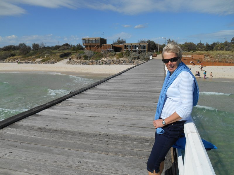 Liz on Seaford Pier