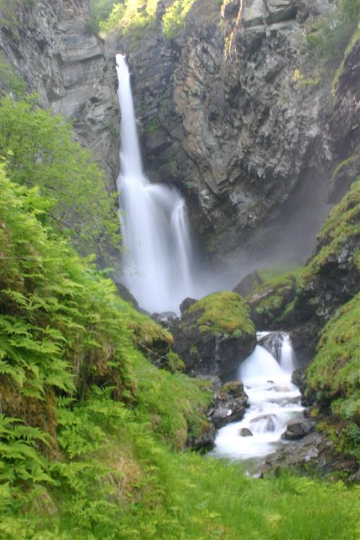 Waterfall on the fjord near Flam