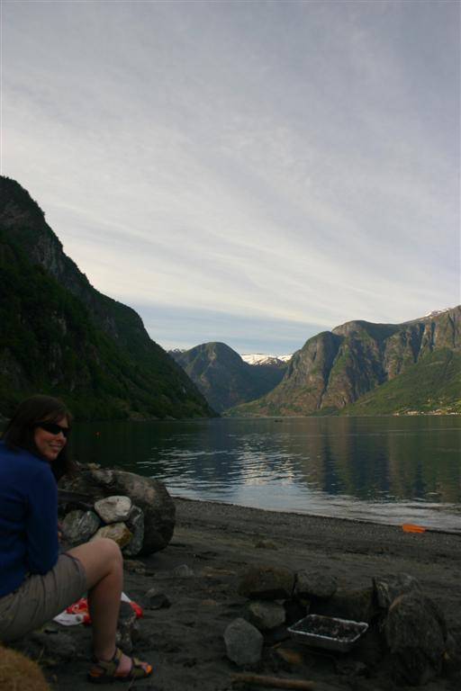The BBQ for dinner near Flam