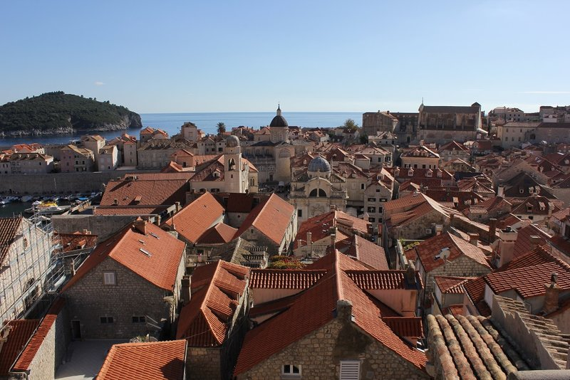 The red roofs of Dubrovnik