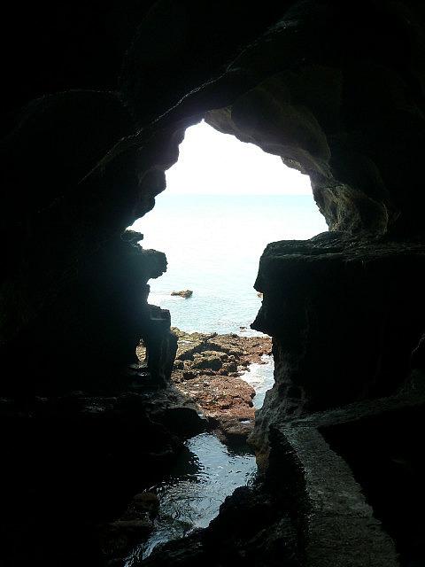 Grotte d'Hercules - la fameuse forme de l'Afrique