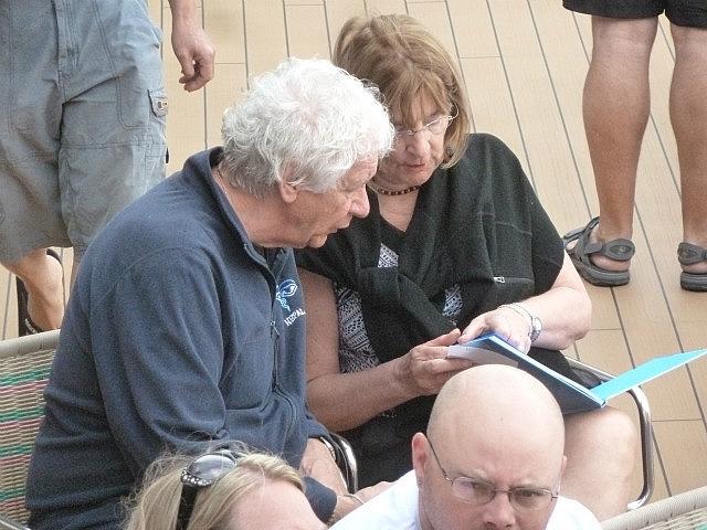 Jackie et Michel concentré