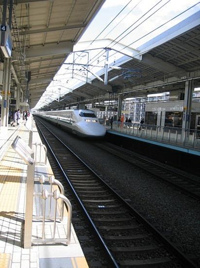 TGV japonais) Shinkensen (Bullet train)