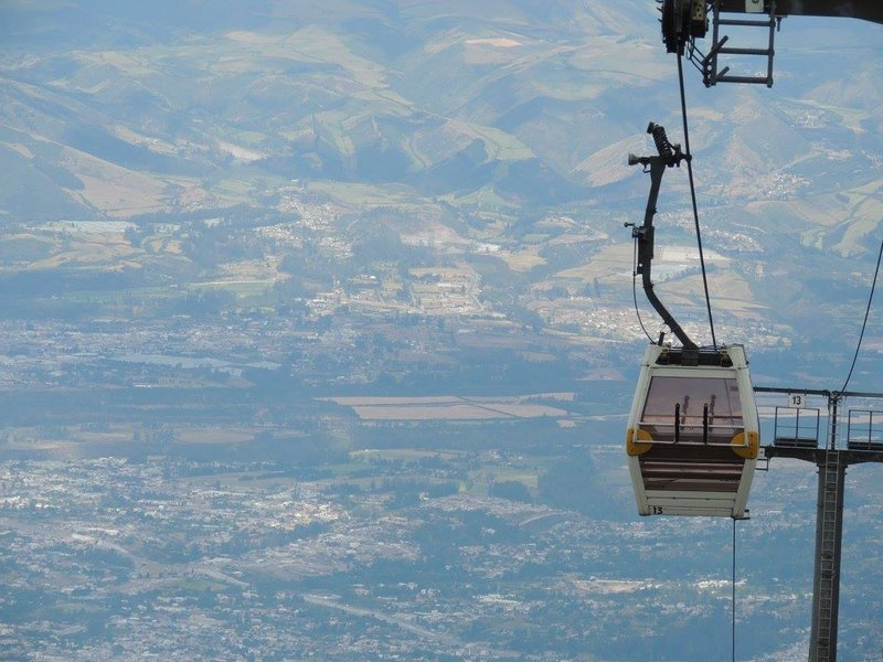 cable car in Quito