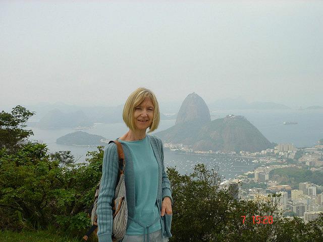 Monica overlooking Rio