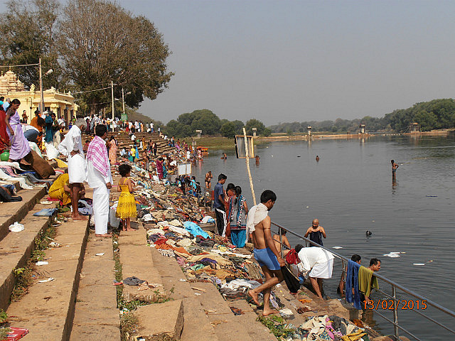 Washing Ceremony in River
