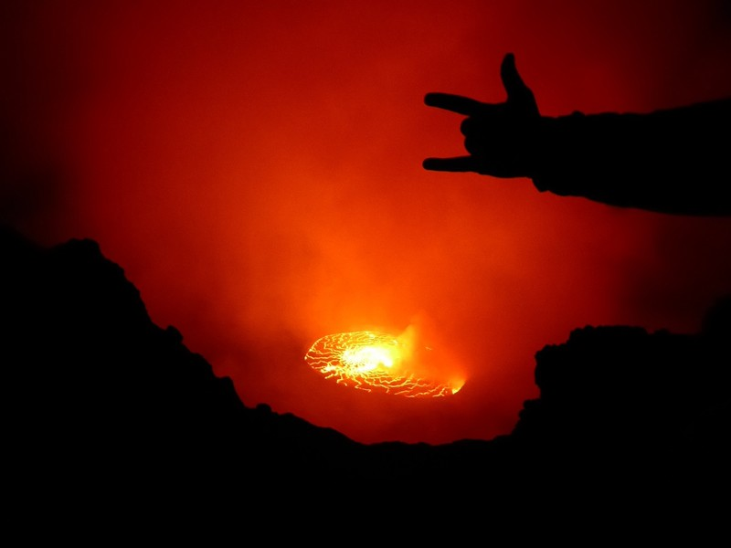 """""""I love you"""" on a volcano!"""