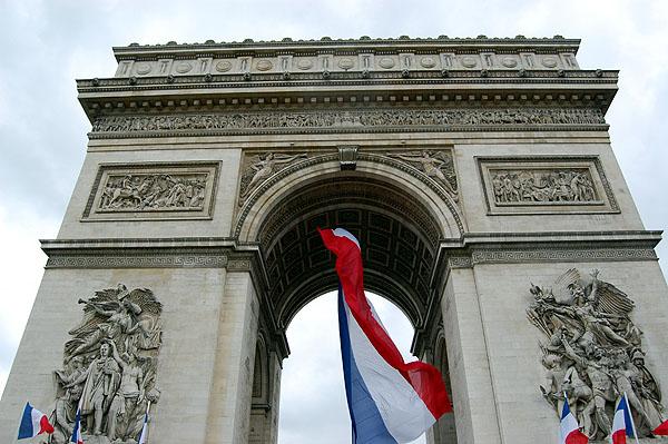 Arc de Triomphe top