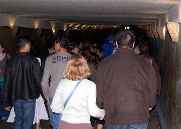 Arc de Triomphe tunnel