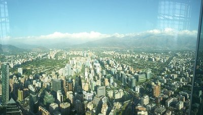 View from Costanera Tower