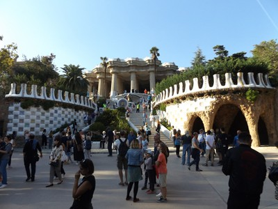 peek at the paid part of Guell Park